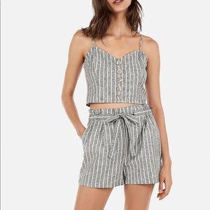 Express Linen-Blend Cami & High-Waisted Shorts